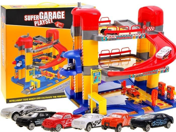 Super Piętrowy Garaż Parking Mechanik Auta Za1858 Zabawki Samochody