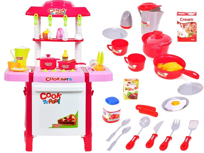 INTERAKTYWNA Kuchnia dla dzieci +CZAJNIK AKCESORIA Zabawki agh kuchnie -> Kuchnia Dla Dzieci Kitchen Interaktywna Akcesoria