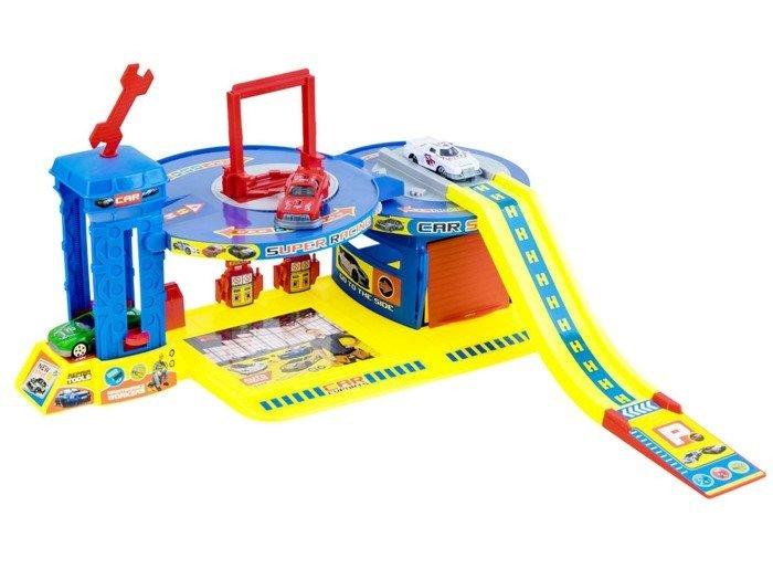 Parking Warsztat Mechanik Piętrowy Garaż Za0879 Zabawki Samochody I