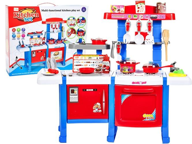 Podwójna KUCHNIA dla dzieci LODÓWKA + Akcesoria Zabawki agh kuchnie -> Kuchnia Dla Dzieci Kitchen Interaktywna Akcesoria