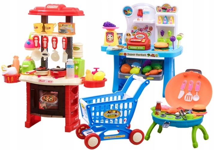 Wielki Zestaw Kuchnia Sklep Kawiarenka Gril Za2226 Zabawki Agd